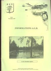 Informations A.G.B. N°59. Novembre 1997. La Parc Bordelais Naguere - Couverture - Format classique