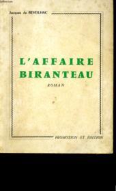L'Affaire Biranteau. - Couverture - Format classique