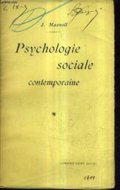 Psychologie Sociale Contemporaine. - Couverture - Format classique