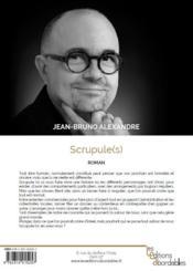 Scrupule(s) - 4ème de couverture - Format classique