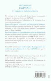 Preparer Le Capsais T.2 L Epreuve Ecrite - Couverture - Format classique