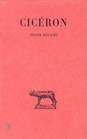 Traité des lois - Couverture - Format classique