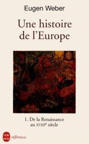 Une Histoire De L'Europe T01 - Couverture - Format classique
