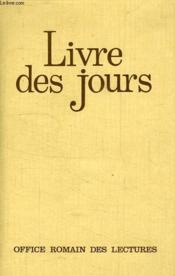 Le livre des jours - Couverture - Format classique