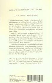 La Nuit Tous Les Chats Sont Gris Babel 447 - 4ème de couverture - Format classique