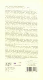 Dix-huitiemes assises de la traduction litteraire (arles 2001) - 4ème de couverture - Format classique