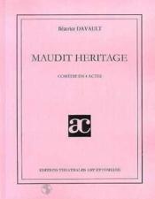 Maudit héritage ; comédie en quatre actes - Couverture - Format classique