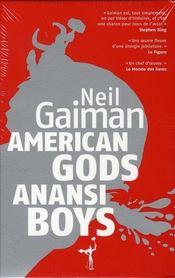 American gods ; anansi boys - 4ème de couverture - Format classique