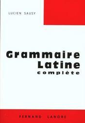 La grammaire latine - Intérieur - Format classique