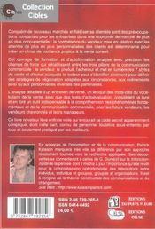 Les 7 Styles De Vente... Et D'Achat. Methodes Pour Conquerirde Nouveaux Marches - 4ème de couverture - Format classique