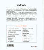 Les etoiles. - 4ème de couverture - Format classique