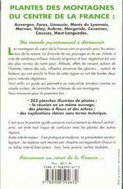 Arbres Et Fleurs De Nos Montagnes - 4ème de couverture - Format classique