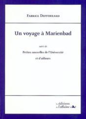 Un voyage à Marienbad - Couverture - Format classique