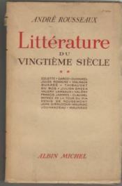 Littérature du vingtieme siecle - Couverture - Format classique