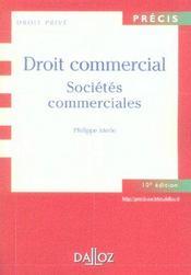 Droit Commercial : Societes Commerciales - Intérieur - Format classique
