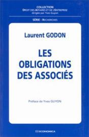 Les Obligations Des Associes - Couverture - Format classique