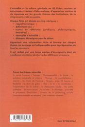 80 Fiches D'Actualite Et De Culture Generale Institutions Citoyennete Et Societe 2e Edition - 4ème de couverture - Format classique