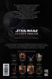 Star Wars - le côté obscur t.1 ; Jango Fett & Zam Wesell - 4ème de couverture - Format classique