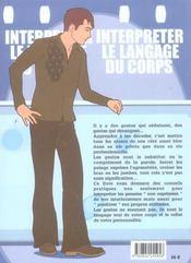 Interpreter le langage du corps - 4ème de couverture - Format classique