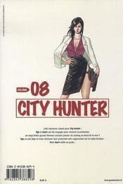 City hunter t.8 - 4ème de couverture - Format classique