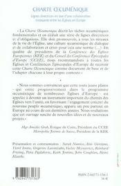 Charte oecumenique un reve, un texte, une demarche des eglises en europe - 4ème de couverture - Format classique