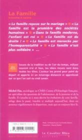 La famille - 4ème de couverture - Format classique