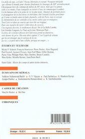Revue Europe N.883 ; Henri Calet ; Novembre-Décembre 2002 - 4ème de couverture - Format classique
