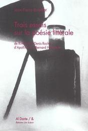 Trois essais de poesie litterale - Intérieur - Format classique