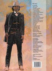 Blueberry T.2 ; tonnerre à l'ouest - 4ème de couverture - Format classique