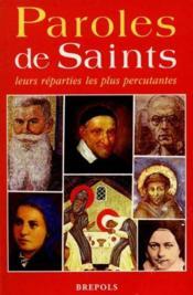 Paroles de saints - Couverture - Format classique