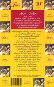 Hadji mourat - 4ème de couverture - Format classique