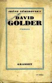 David Golder. - Couverture - Format classique