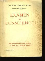 Examen de Conscience - Couverture - Format classique