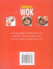 Cuisine au wok - 4ème de couverture - Format classique