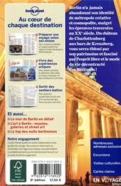 Berlin (8e édition) - 4ème de couverture - Format classique