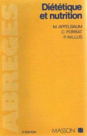 Abrege De Dietetique Et De Nutrition - Couverture - Format classique