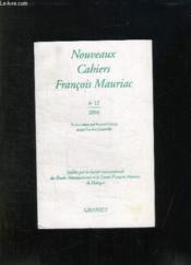Nouveaux cahiers François Mauriac t.12 - Couverture - Format classique