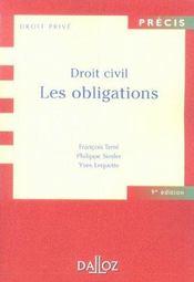 Droit civil ; les obligations (9e édition) - Intérieur - Format classique