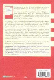 Droit civil ; les obligations (9e édition) - 4ème de couverture - Format classique