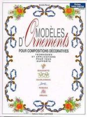Modeles D'Ornements Pour Compositions Decoratives T1 - Couverture - Format classique