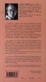 Le roman de bergen, 1900 l'aube t.1 - 4ème de couverture - Format classique