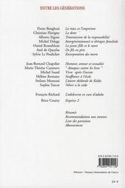 Adolescence t.62 ; entre les générations - 4ème de couverture - Format classique