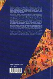 Mediation(La) - 4ème de couverture - Format classique