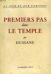 Premiers Pas Dans Le Temple - Couverture - Format classique