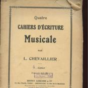 Quatre Cahiers D'Ecriture Musicale - Couverture - Format classique