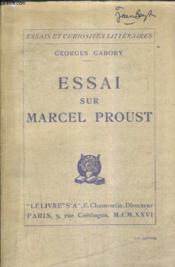 Essai Sur Marcel Proust. - Couverture - Format classique