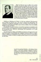 Saheliens Et Sahariens Du Tchad - 4ème de couverture - Format classique