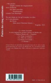 Poèmes t.1 ; 1913-1917 - 4ème de couverture - Format classique