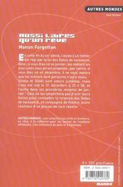 Aussi Libres Qu'Un Reve - 4ème de couverture - Format classique