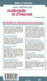 Les Metiers Du Multimedia Et D'Internet ; Edition 2000 - 4ème de couverture - Format classique